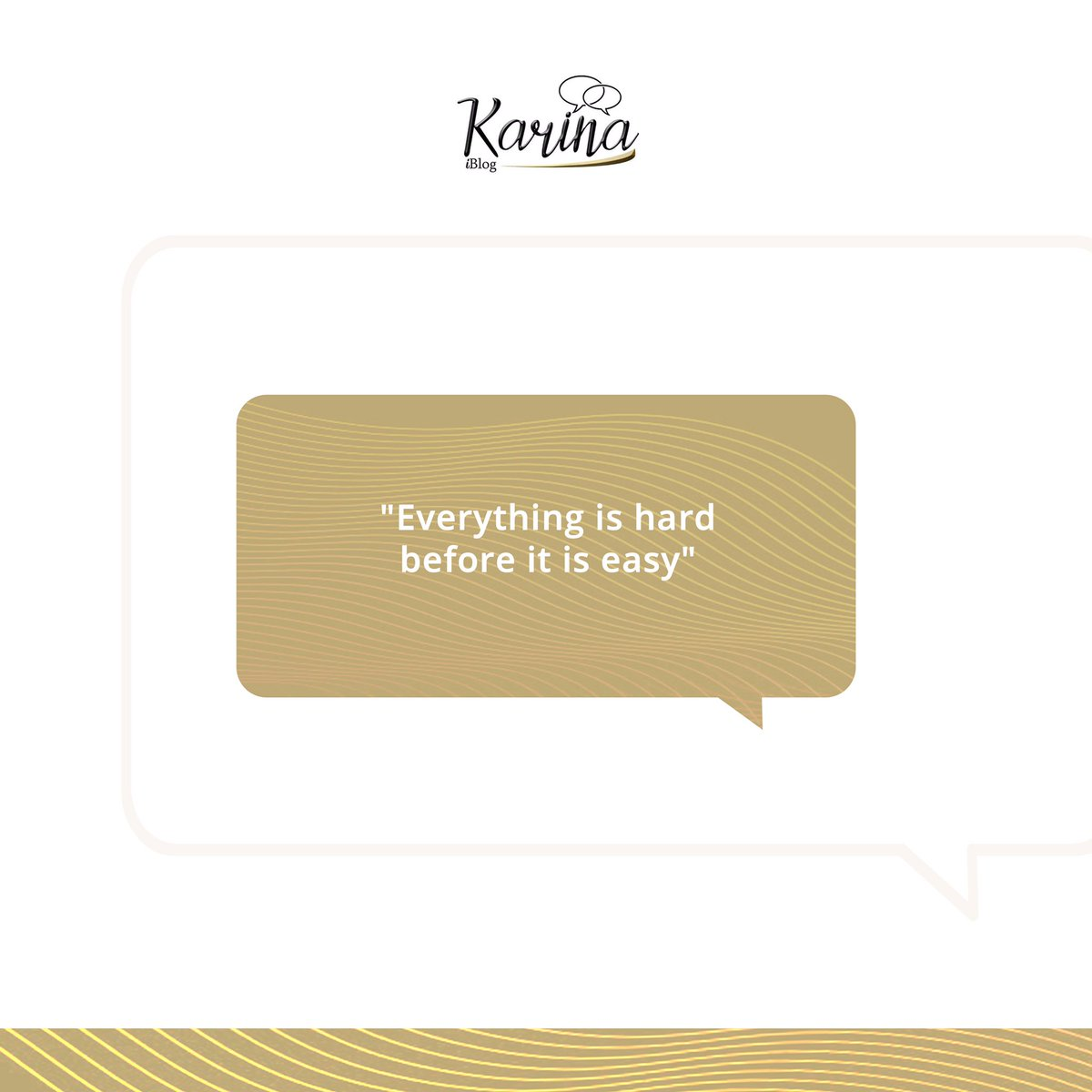 """""""Everything is hard before it is easy"""" Stay Strong 💪🏾  . . . #mondaymotivation #quotes #karinaiblog #bestbelievethehype"""