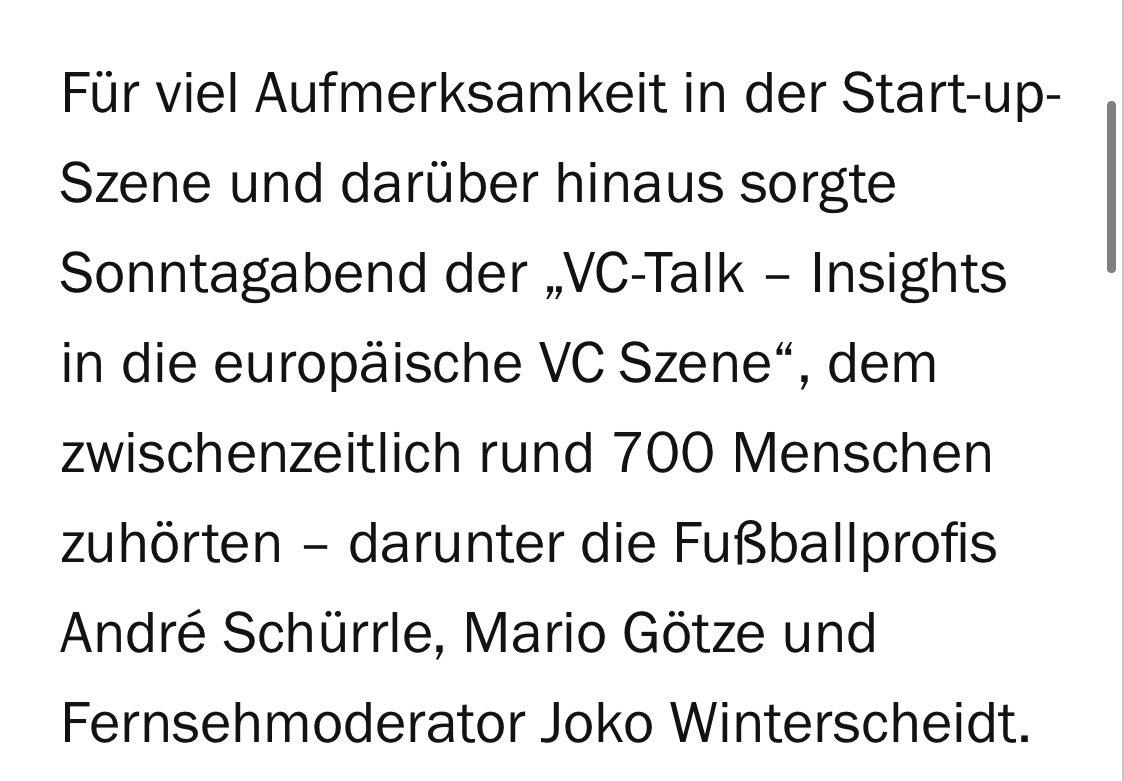 Hype? Quatsch 😂 Der gestrige VC-Talk auf @joinClubhouse hat's in @handelsblatt geschafft 😂 Hyper hyper...