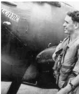 PO. Robert William 'Bob' Foster. DFC. One of THE FEW.  He survived the War. His funeral in Hastings was overflown by Hurricane R4118, which he had flown in action in the Battle of Britain.