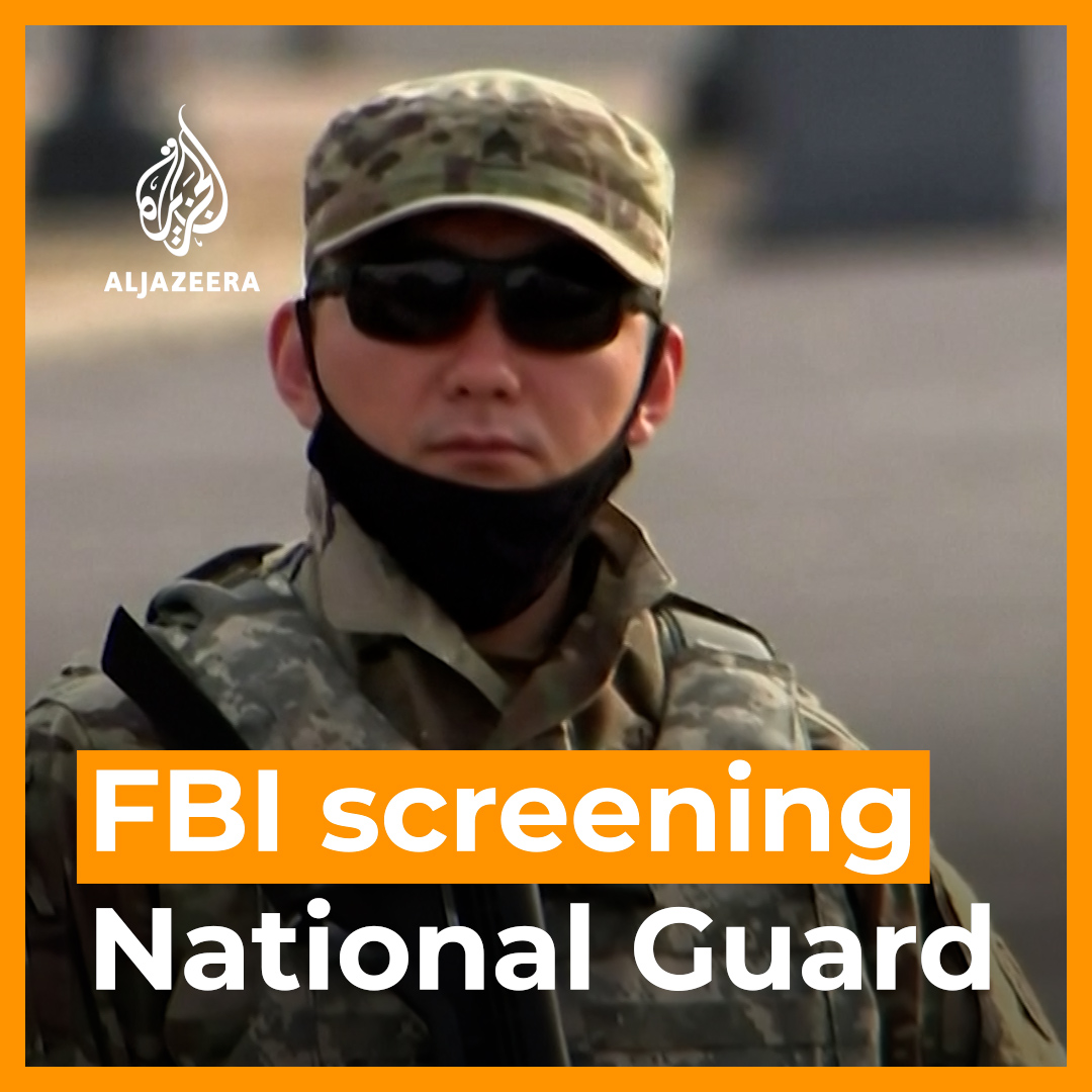 The FBI is conducting additional screening of National Guard troops assigned to protect Joe Biden's inauguration.   Officials say they are worried about the possibility of an insider attack 👇