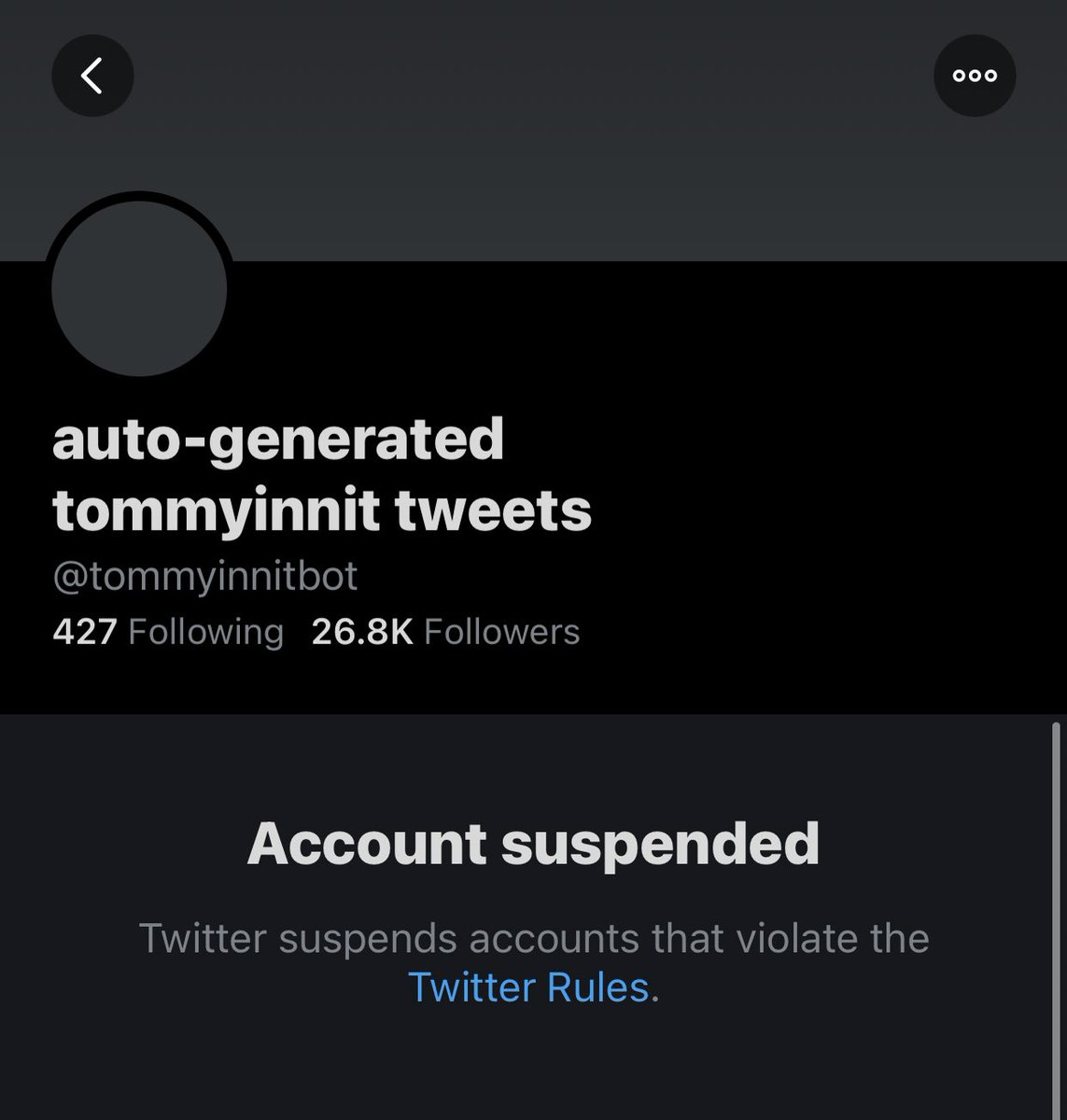 #FREETOMMYBOT THEY DID NOTHIN WRONG 😤