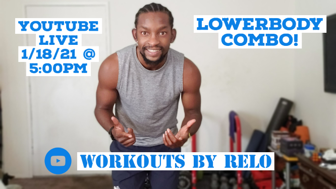 Lower Body Workout!!  via @YouTube  Get ready for another live workout!! 5:00pm(PST). Bring some weights and come ready to work. #workoutsbyRelo #Fitness #Workout