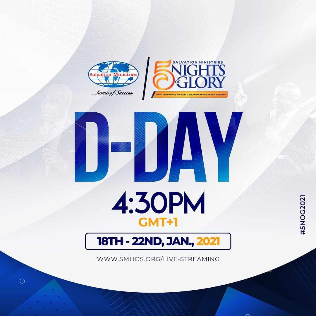 This is the day that the Lord has made... #5NOG2021 commences today! Don't be left out!! . you can stream live from the comfort of your home or attend any viewing center close to you. #Manifestation2021 #SMHOS #davidibiyeomie #Grateful  #mondaymotivation