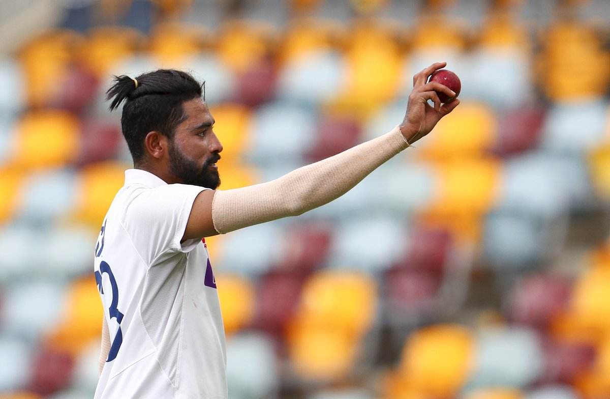 Congratulations also to India's Mohammed Siraj on a well deserved five-wicket haul - his first in Test cricket 👏👏 #AUSvIND