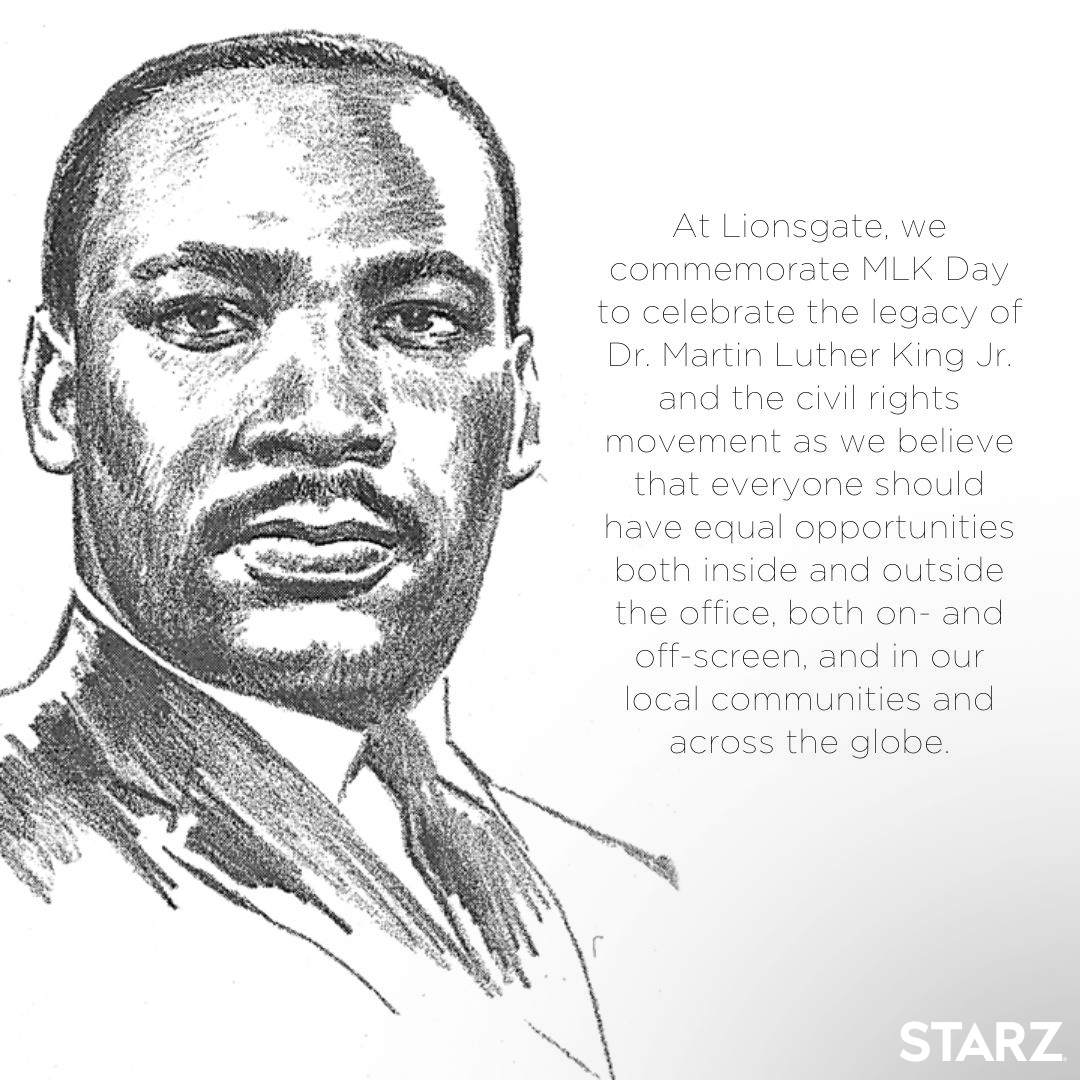 "Today is a day of action, not a day off. To move us closer to Dr. King's vision of a ""Beloved Community,"" we must all work together and support our communities on this day and every day. #STARZ"