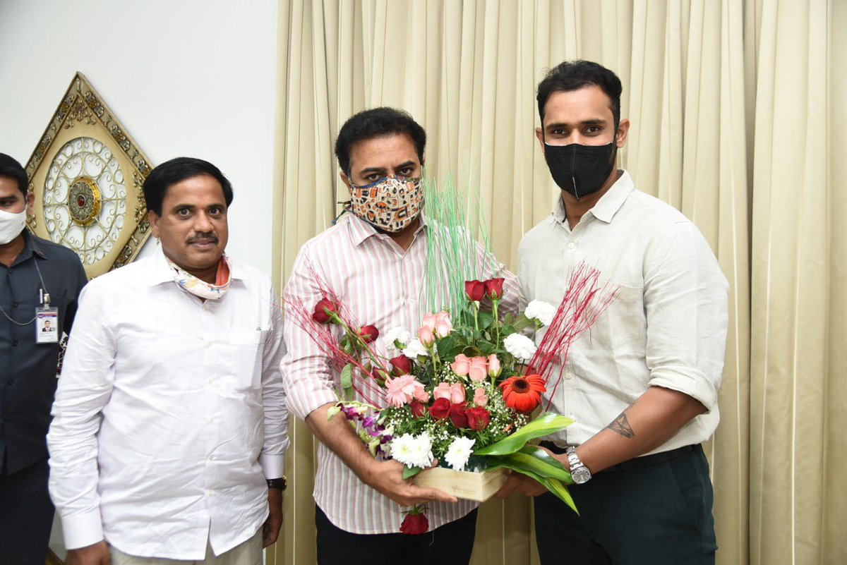 It was a pleasure meeting you and having a conversation about cricket sir. @KTRTRS