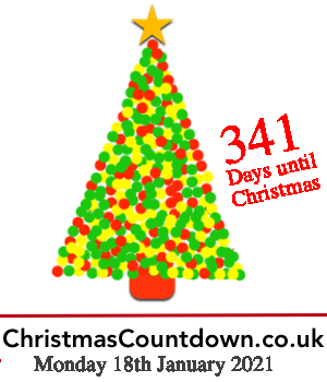 18th January 2021, 341 days to go! For all the latest #Christmas news, planning tips and #competitions see