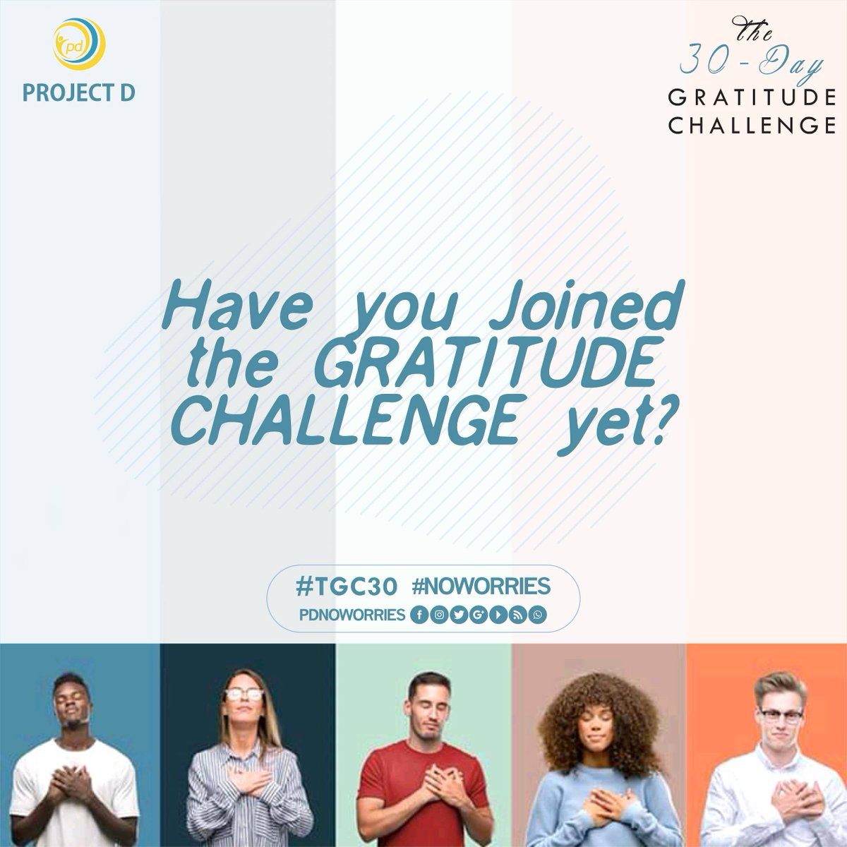 Beginning the year with gratitude is settling for good vibes only 😊🙌🙌  JOIN THE GRATITUDE CHALLENGE Tell a friend who will tell a friend.  #join #tgc30 #gratitude #gratitudechallenge #yearstarter #goodvibes #mentalhealth #notodepression #yestolife #projectd #noworries
