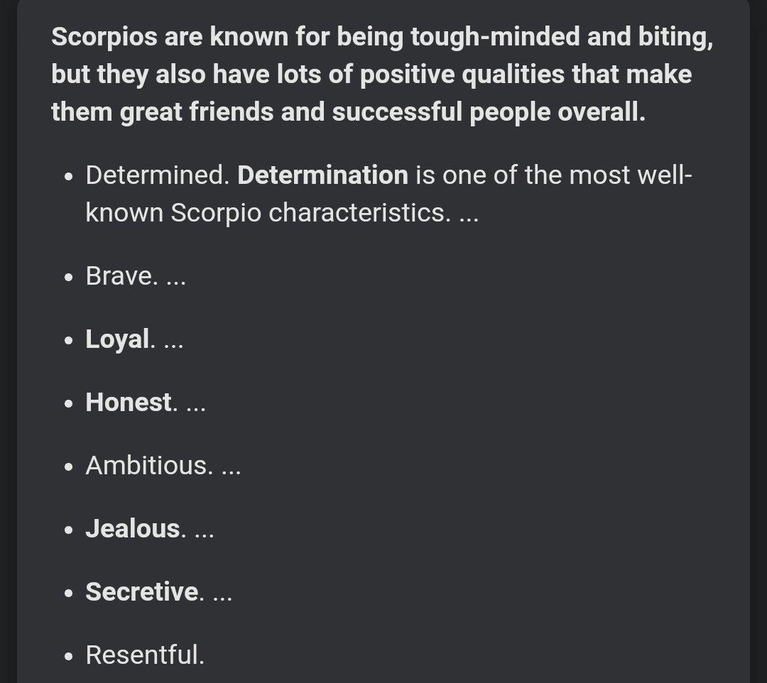 Scorpio traits positive 10 Best