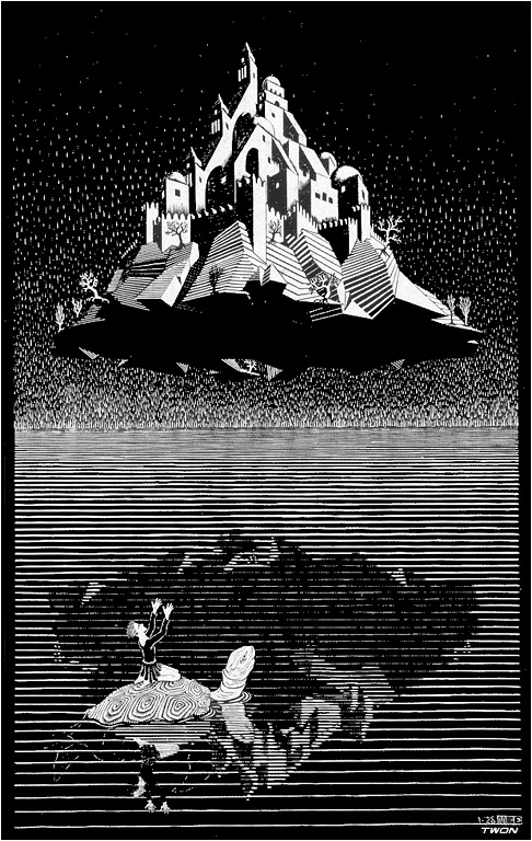 Castle in the Air, 1928 #surrealism #mcescher