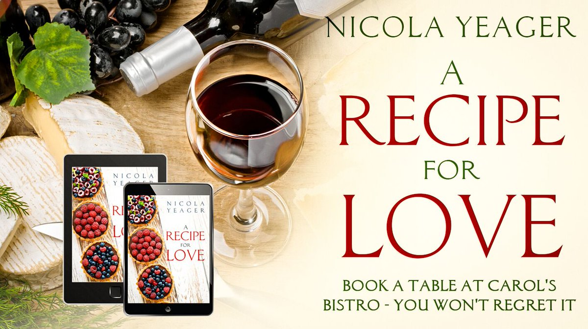 A Recipe for Love by Nicola Yeager. 'Made me laugh in all the right places. Didn't want to put it down!!'  #Fun #RomCom #Bistro #Foodie #Romance