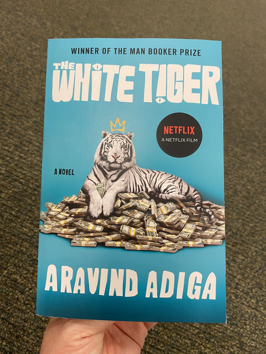 In the read it before you see it trend The White Tiger is a good choice! #readitbeforeyouseeit #whitetiger @netflix #aravindadiga #manbookerprize #142bn