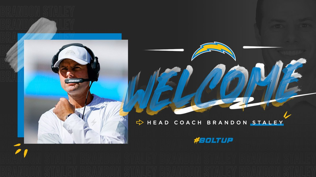 welcome, coach!   we've agreed to terms with Brandon Staley to become our next head coach »