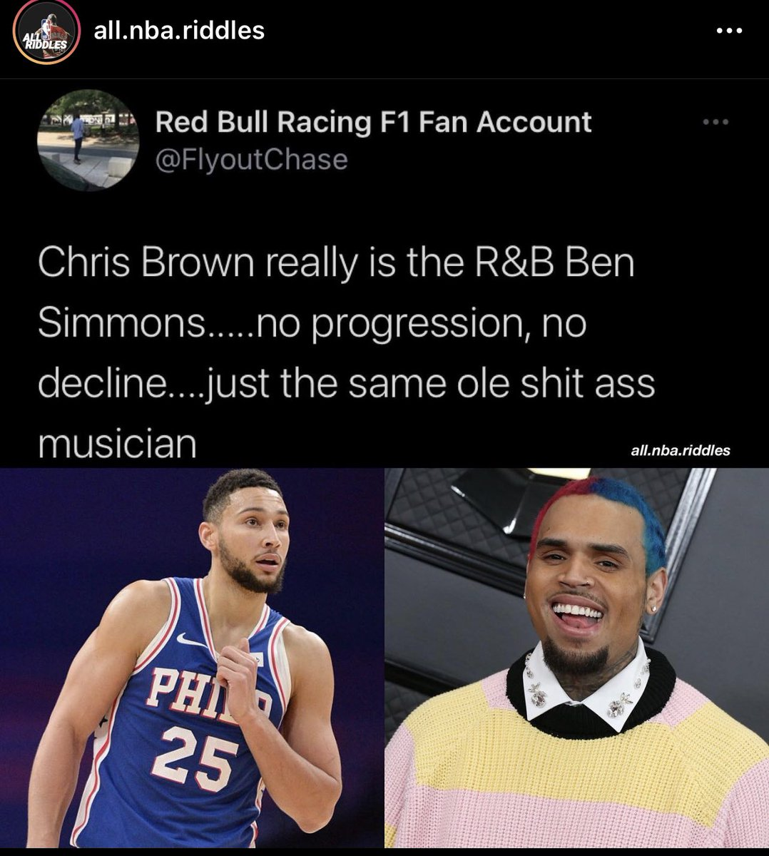 Chris Brown got compared to Ben Simmons and went off 😳 https://t.co/a5QAbx1q2n