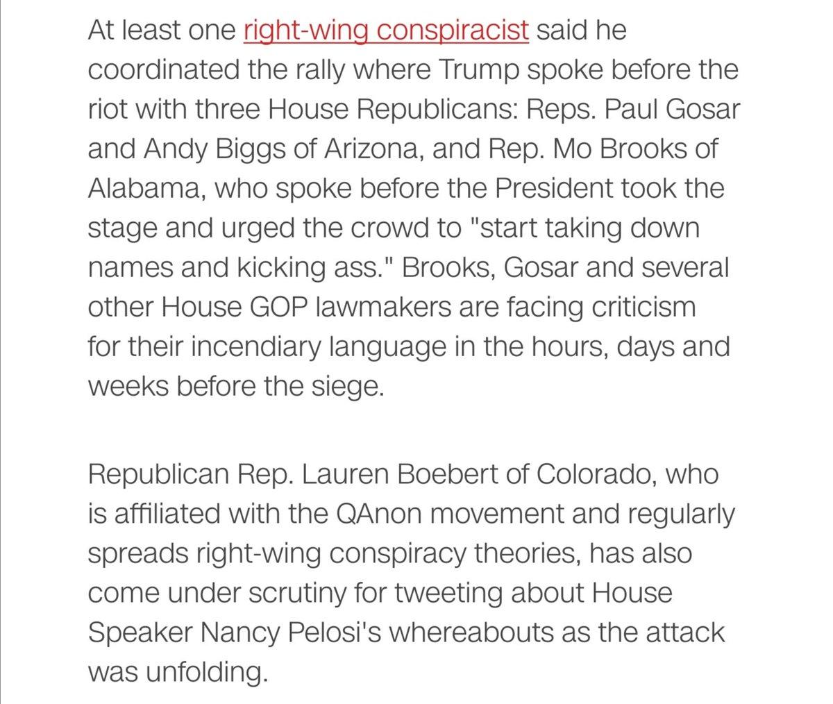 ENABLERS ACCOMPLICES  #MoBrooks #PaulGosar #AndyBiggs #LaurenBoebert  #GOP #VichyRepublicans #Kristallnacht  #CapitolRiot #CapitolHill #CoupAttempt #TrumpTreason #Trump #Washington #Inauguration2021
