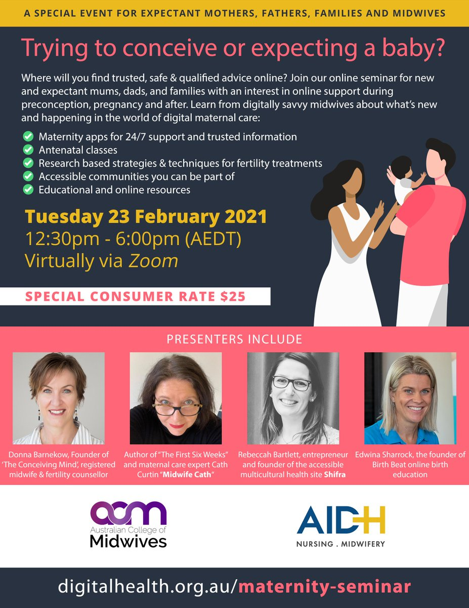 Having a baby? Learn what's available online with trusted expert advice. Meet the digitally savvy #midwives at this virtual seminar. #babies #momlife #pregnancy #mum #mumtobe #parenting #firsttimemum #breastfeeding  #postpartum #newbornbaby #family #NewDad