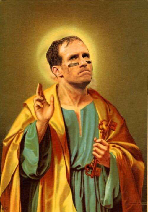 Whether or not tonight was his last time putting on the Black & Gold, forever a Saint he shall remain.   #DrewBrees #WhoDat⚜️