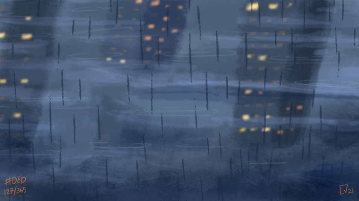 Groundscrapers.   Tch, it only rained once here in LA. Give more rain pls.  #draweveryday #ded #art #digitalart #rain