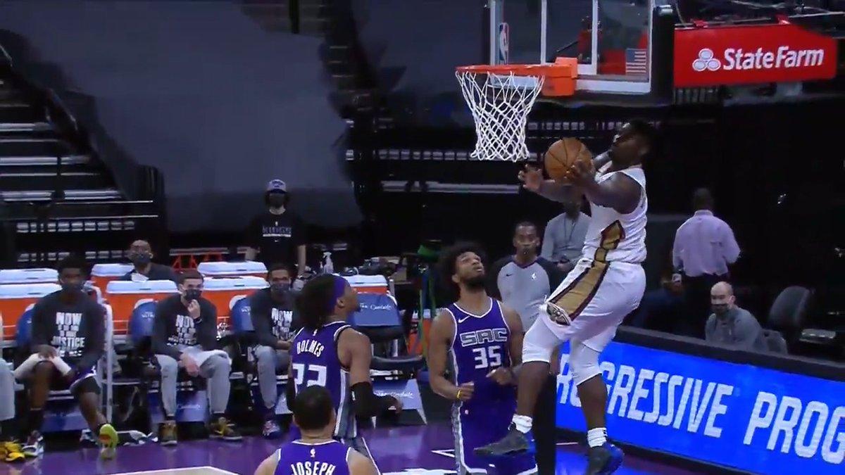 🚨 Zion Alert 🚨  (via @NBA)