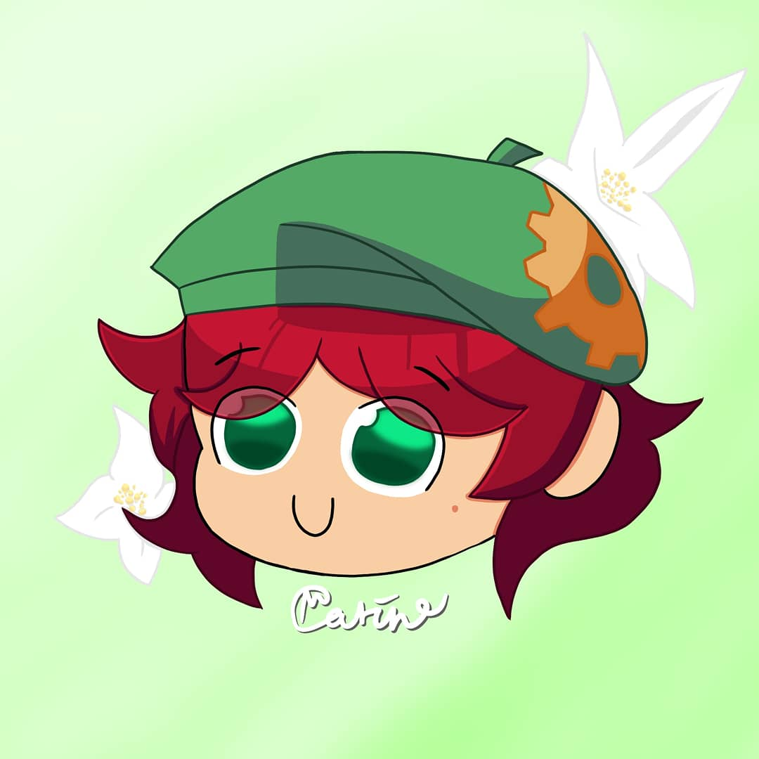 Steam Faction Scarlet💚💨 (My first attempt at a pfp drawing , and yes I posted twice in 1 day)  #art #digitalart #explorepage #brawlhalla #brawlhallaart #chibiart #chibi #cute