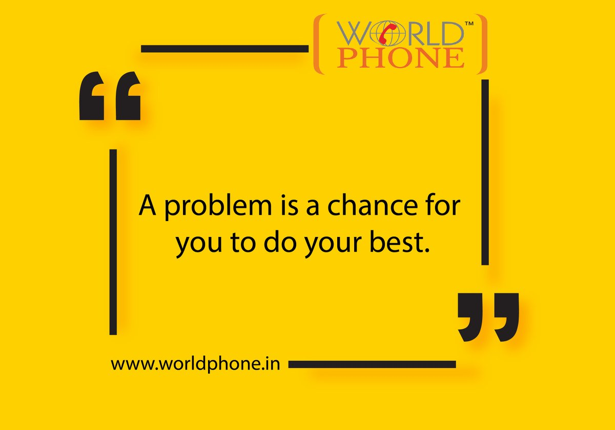 Hurdles are disheartening, and they're often unavoidable. But the way you engage with and think about problems directly influences your ability to solve them.   #WorldPhone #MondayMotivation #Problems #Solutions