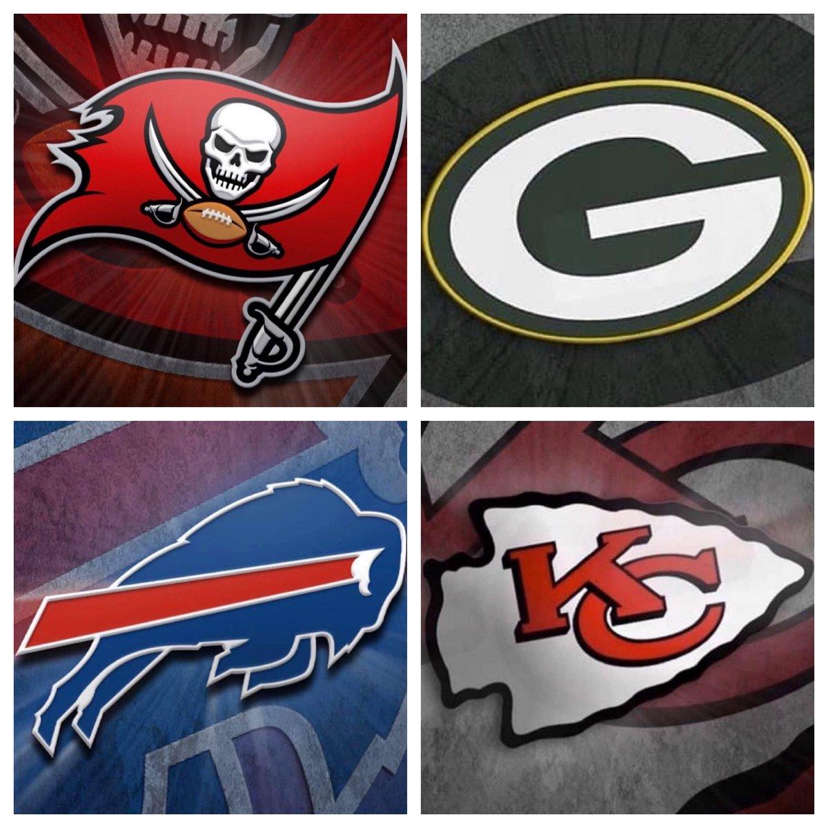 #IESRSN And Then There Were Four. #NFL #NFLPlayoffs #ChampionshipWeekend #NFCConferenceChampionship #TBvsNO #GoBucs #Saints #AFCConferenceChampionship #BUFvsKC #BillsMafia #ChiefsKingdom