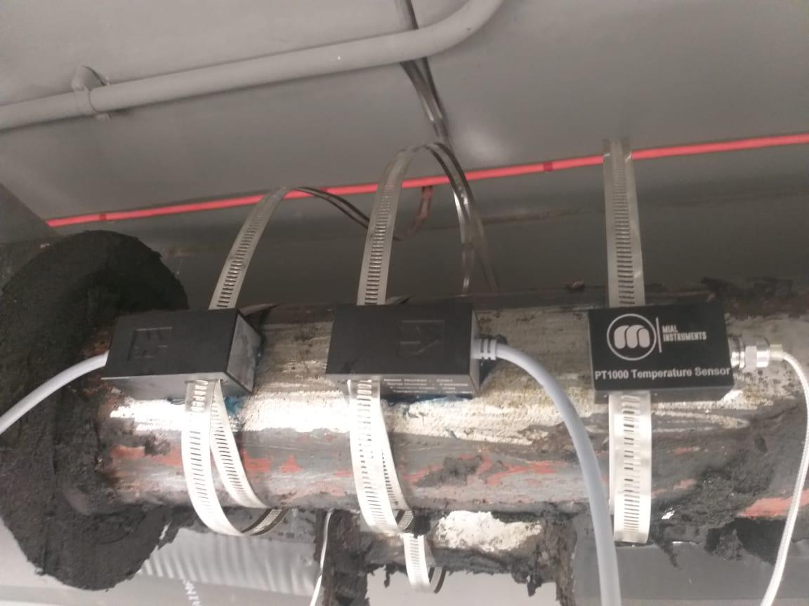 MUF(B) 1200 clamp on ultrasonic BTU meters installed & Commissioned at Standard Chartered Bank, UAE  SIEMENS   #mialinstruments #ultrasonic #clampon #flowmeter #calibration #btumeters #hvac #energy #StandardChartered #bank  #uae #kuwait #ksa #india