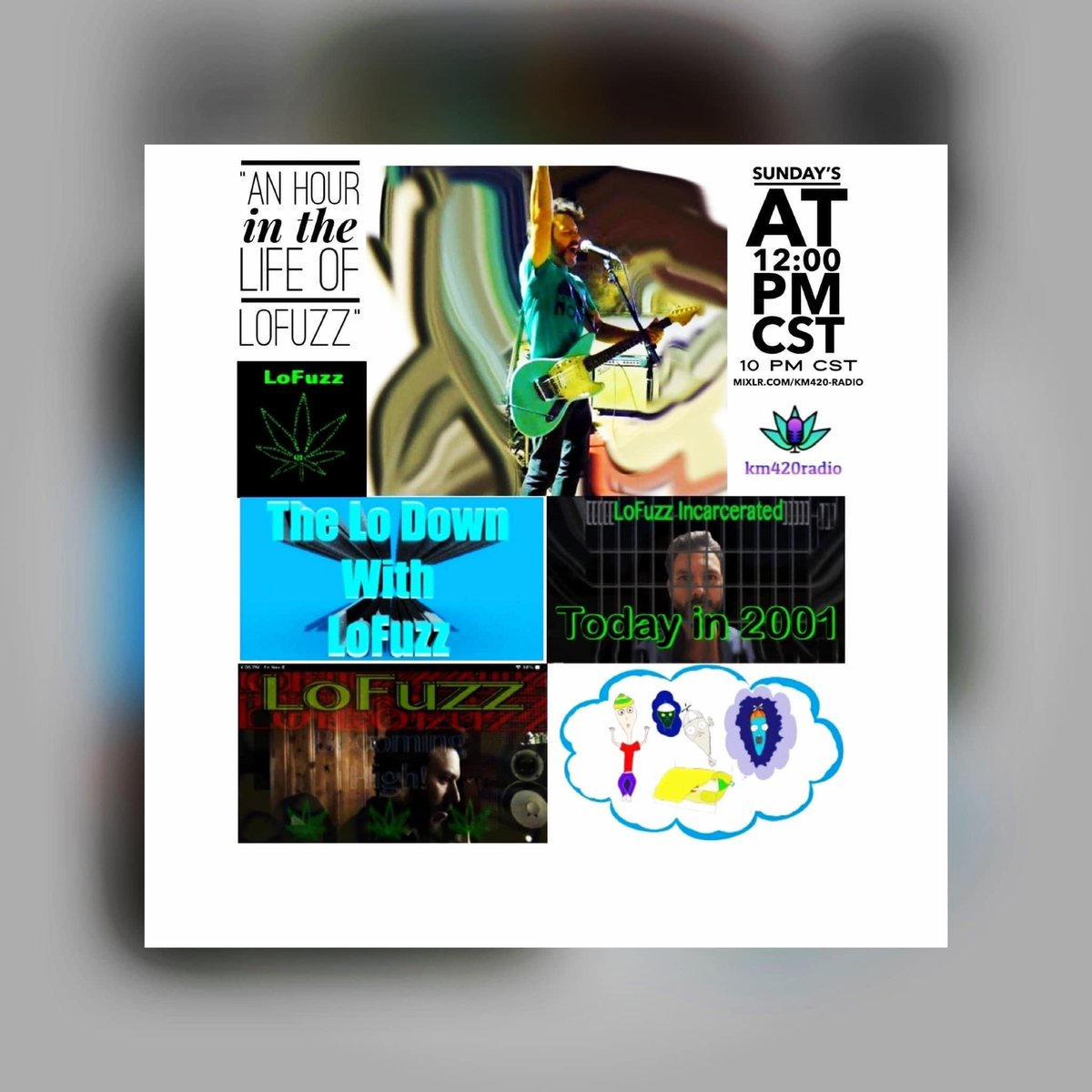 🔥🔥🔥🎶 NOW 🎶🔥🔥🔥  KM420 RADIO presents: An Hour in the Life of Lo Fuzz Playing today at 12:00 PM CST 🔥🎶💗  💚 Lo Fuzz bad ass music  💚 becoming high with LoFuzz  💚 the Lo Down with LoFuzz  💚 LoFuzz incarcerated  #sanantonio #indieartist #bluesrockandroll #lofuzzmusic