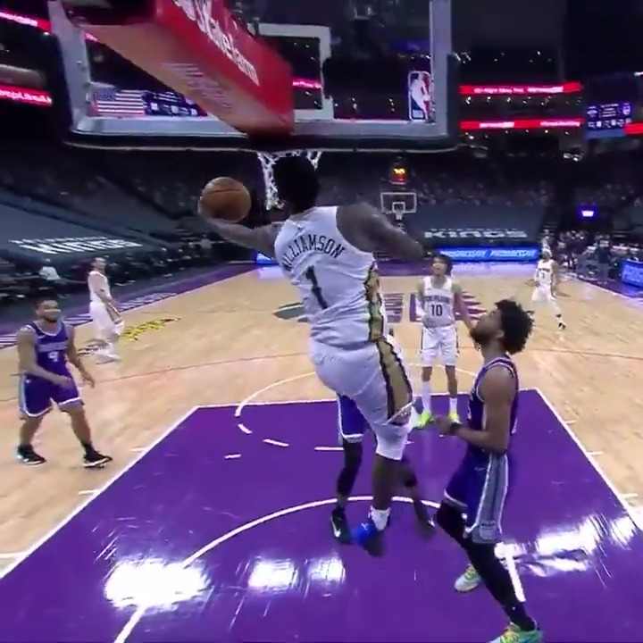 Zion FLOATED on this bucket 😨