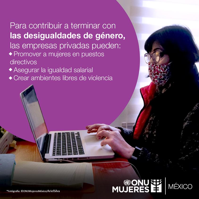 El sector privado posee un gran potencial para terminar con las desigualdades de género que persisten en el mercado, el lugar de trabajo y la comunidad. Aprende más:  #SinDejarANadieAtrás