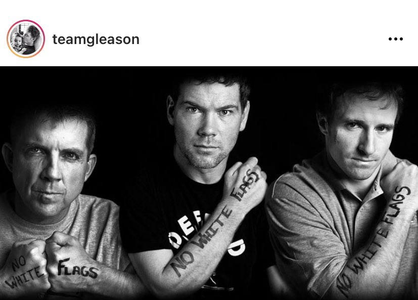 #NoWhiteFlags 🏳️  @TeamGleason