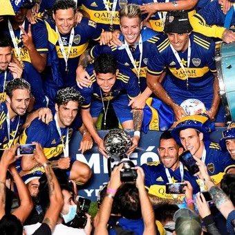 No podía ser de otra manera! ESTA copa se debía quedar en SU CASA!! 💙💛💙 #BocaJuniors #BocaCampeon #CopaDiegoMaradona