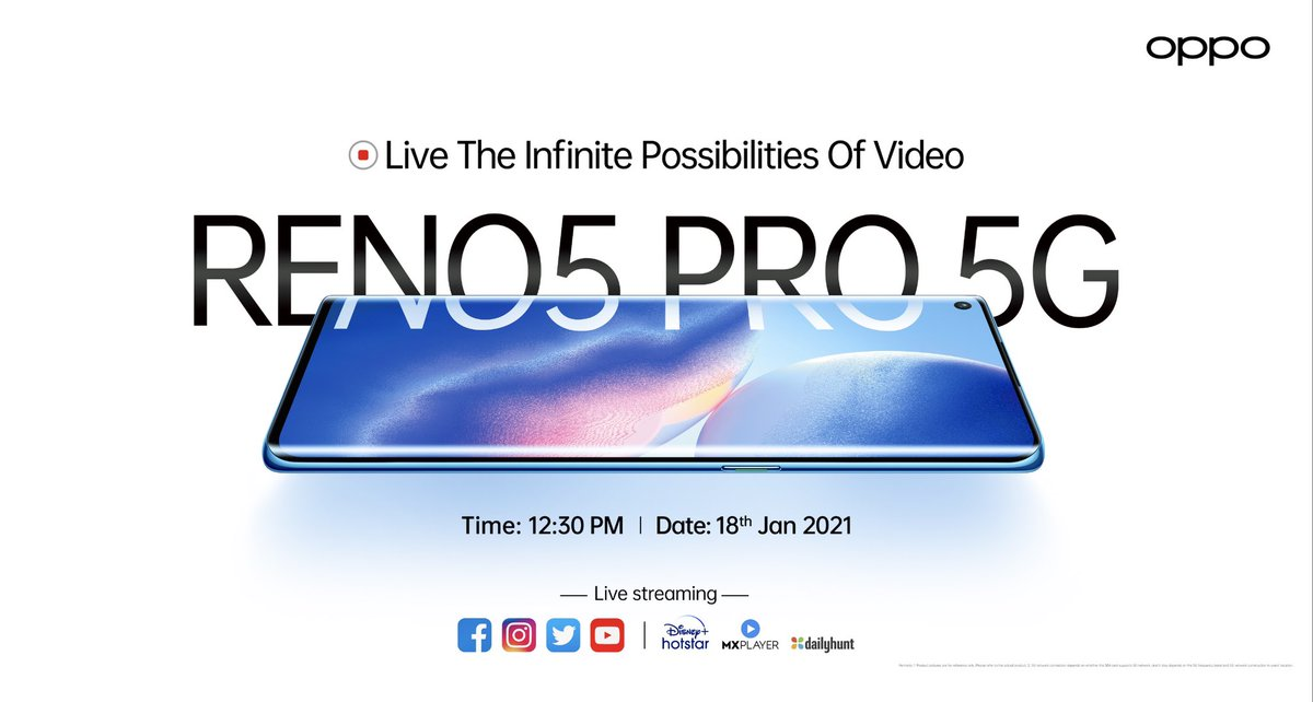 #OPPOReno5Pro live launch event link -  Unboxing video and giveaway to follow as well... stay tuned