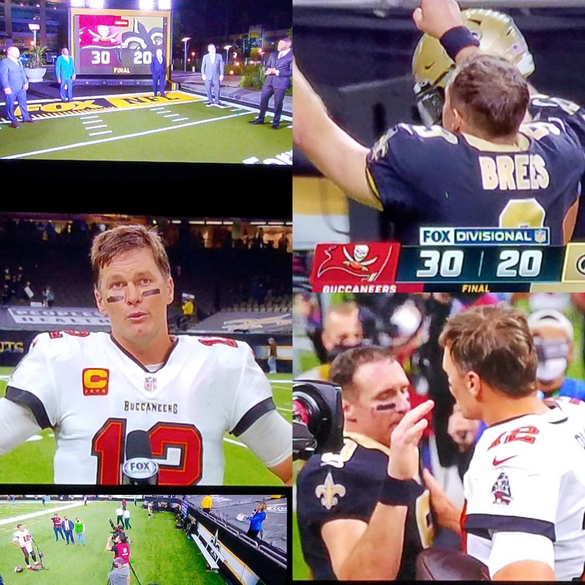 Good game. Amazing to see these two square off... 2 #HOF QBs 1 #GOAT #TBvsNO #Brady #Brees #NFCDivisional #NFLPlayoffs