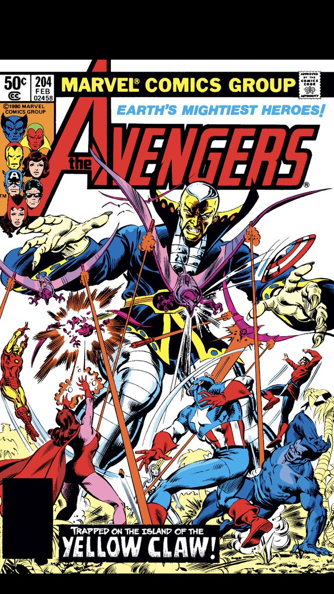 #comicbeforebed Avengers No. 204, February, 1981. Jarvis eats, Vision is defeated, and Yellow Claw makes demands. 😋😵😈 #Avengers #MarvelComics #MarvelUnlimited #digitalcomics @marvel @MarvelUnlimited