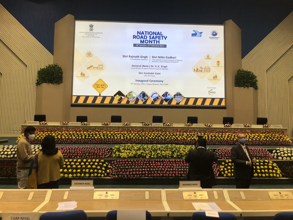 Replying to @MORTHIndia: Stage set for the Inauguration of 'NATIONAL ROAD SAFETY MONTH'!