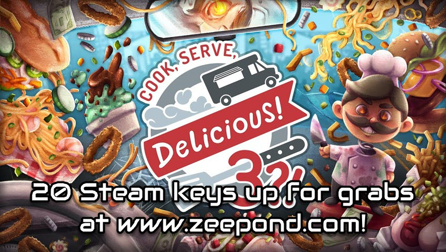 Cook Serve Delicious 3 GA - 20 Steam keys  @SGH_RTs @BlazedRTs @LaZy_RTs @ShoutGamers @ShoutRTs #gamedev #indiedev #GamersUnite #gamer #indiegame #Steam @GamerGalsRT #gaming #videogame #PCGaming #game @TBE_RT @GamingRTweeters @VideoGame_RTs #gamingcommunity