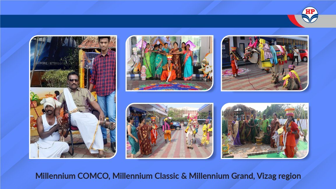 It's always heartwarming to see @HPCL Retail family members #DeliveringHappiness by going the extra mile. Our staff at Millennium COMCO, Millennium Classic & Millennium Grand, Vizag Region did just that yet again, by hosting warm and safe #MakarSankranti celebrations. #MeraHPpump