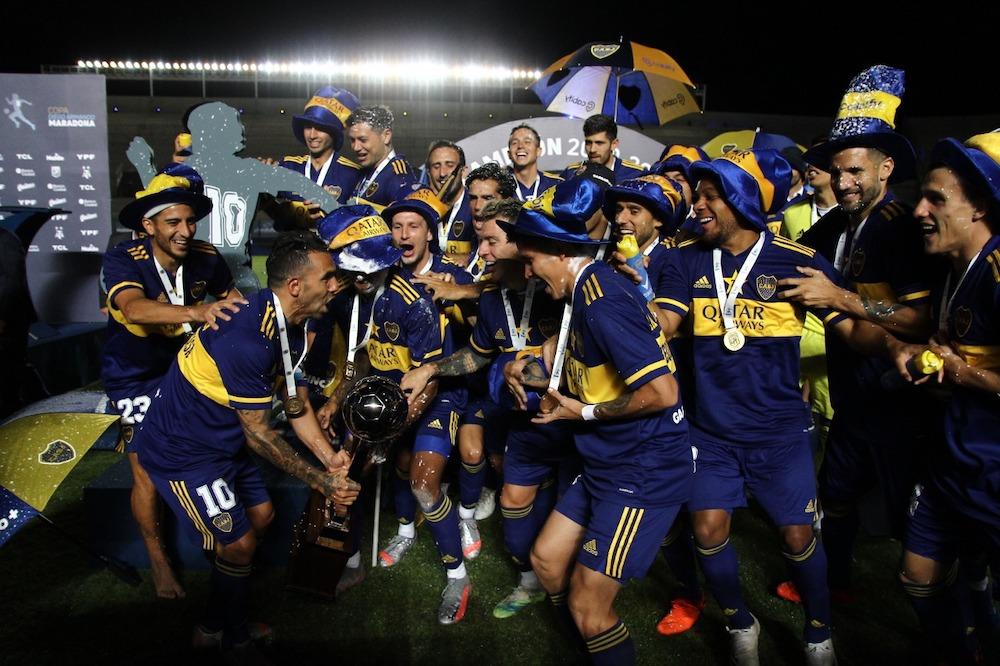 (#FútbolArgentino ⚽🏆🔵🟡🔵)    Boca se quedó con la #CopaDiegoMaradona y ratifica su liderazgo en el fútbol doméstico 👉