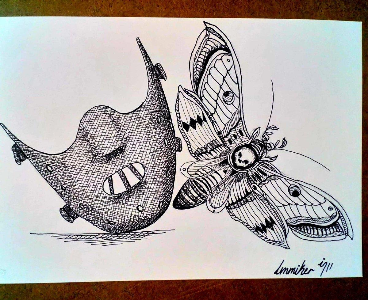 Dia 28 Polilla  #artober #artober2020 #drawing #sketchbook #sketch #blackandwhite #art #ink #inked #ilustracion #artist #draw #follow #like #dibujo #dia28 #arte #day28 en CDMX