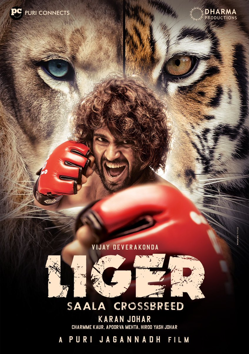 Lion @DharmaMovies &  Tiger @PuriConnects  This duo embarking to cross all linguistic barriers and Roar together😁   Presenting Rowdy @TheDeverakonda as #LIGER🥊  And I'm so very excited and grateful to be part of this 🥳🥳