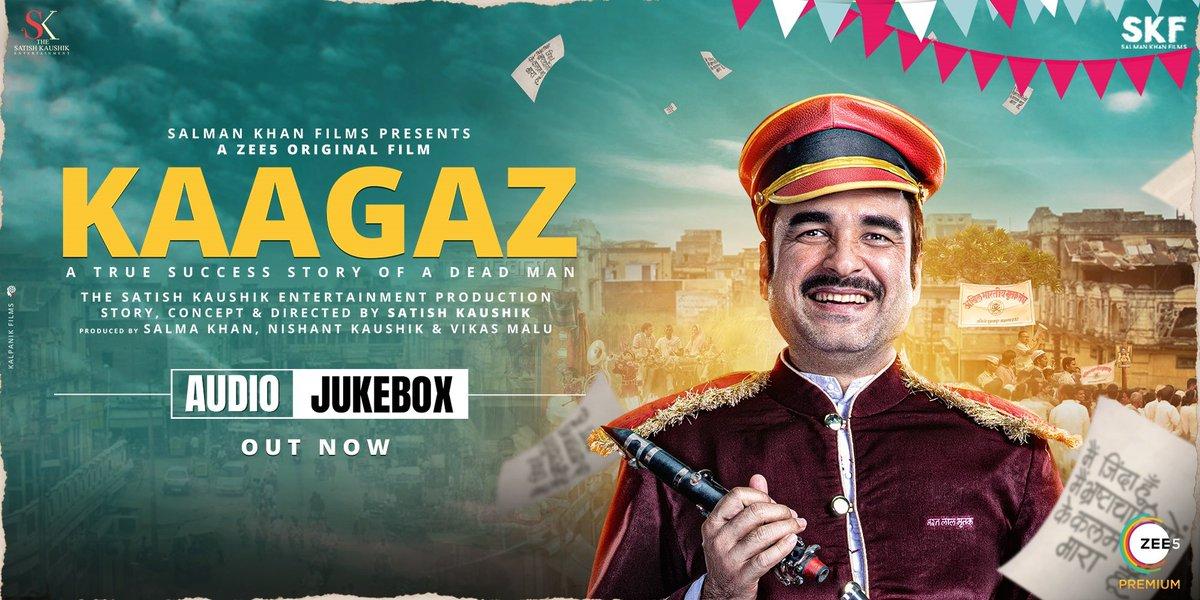 Enjoy the soulful soundtrack of #Kaagaz with the Audio Jukebox. #ProofHaiKya    @tripathiipankaj @satishkaushik2 @gajjarmonal @TheAmarUpadhyay @Nishantkaushikk #MitaVashisht @ZeeStudios_ @ZEE5Premium @profanesoul #VikasMalu @anksumads
