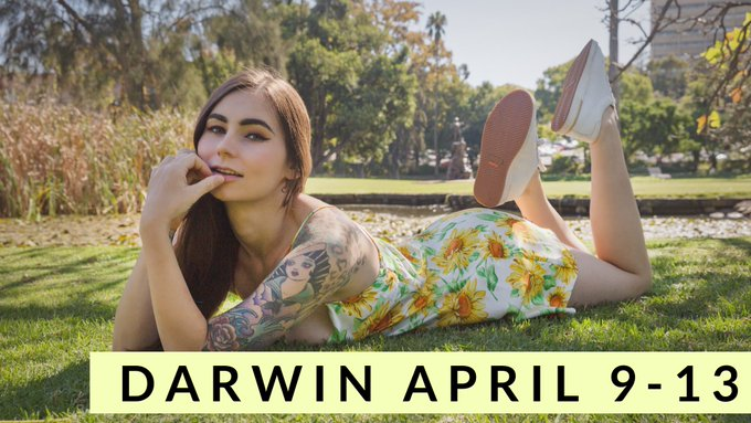 🌻 DARWIN TOUR🌻 April 9 - 13  Now taking bookings, as usual, there will be discounts for those who prebook