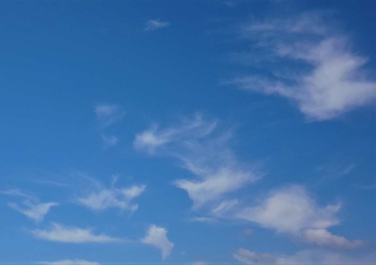 Birds in the sky - no -just fluffy white clouds against the blue #Nature #inspiration #clouds #sky