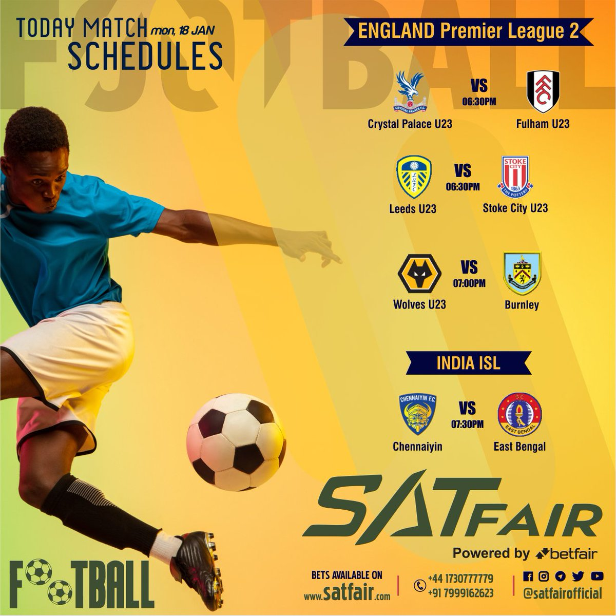 "Satfair gives everyone an ""important update"" Satfair provides you all the matches to be played today Join now AND Start Playing Sign Up Free Minimum Deposit 5000 Minimum Withdrawal 5000 Withdrawal Timings 60-90 Min Max  Contact Now +44-1730777779  +91-7999162623 #soccer #satfair"