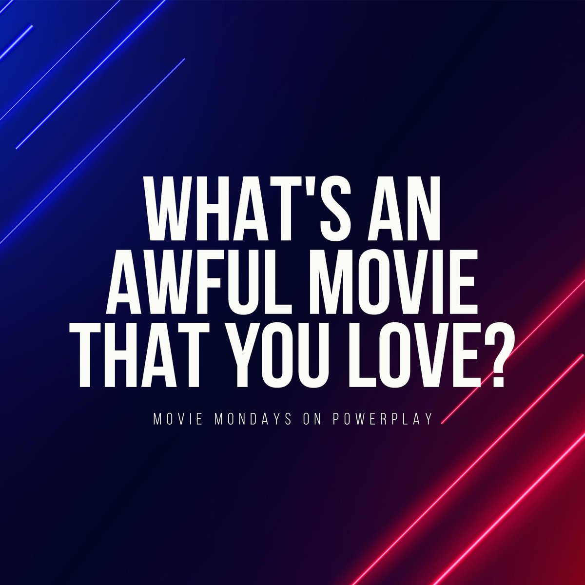 It's #MovieMondays on #PowerPlay with davidriley_! 🤓🎞  We've got awesome pick-me-up hits and all the #GoodVibes on tap 'til 7 PM 👌🏼  Quote RT or Reply your answers to our question below 👇🏼👇🏼👇🏼