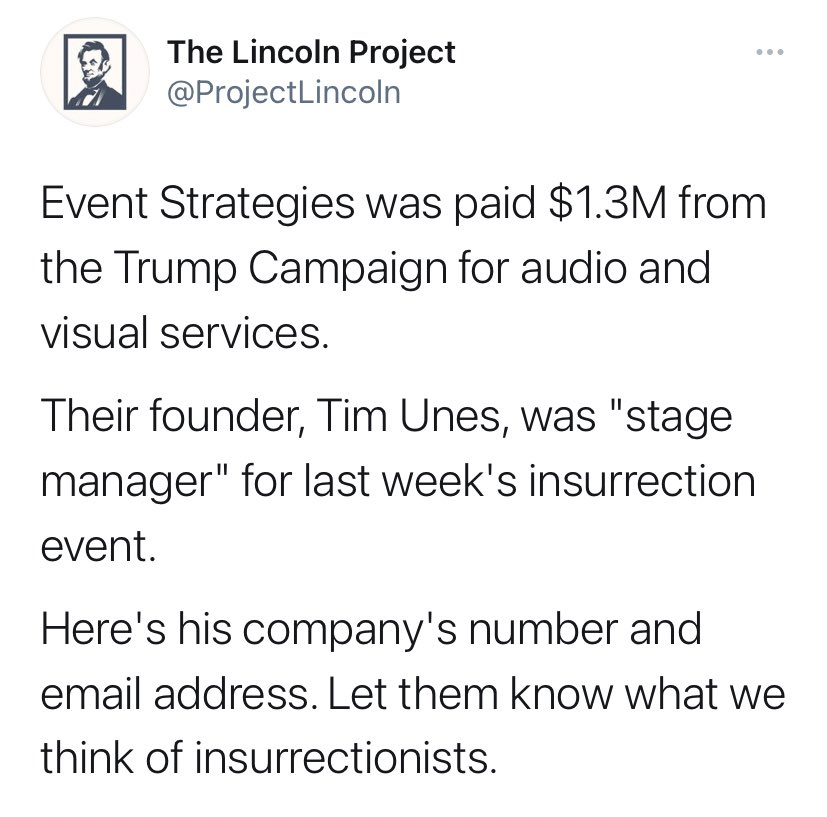 Lincoln Project scumbags have launched a new harassment campaign to pressure the founder of this company to fire...himself https://t.co/IsDMsUmRJ2