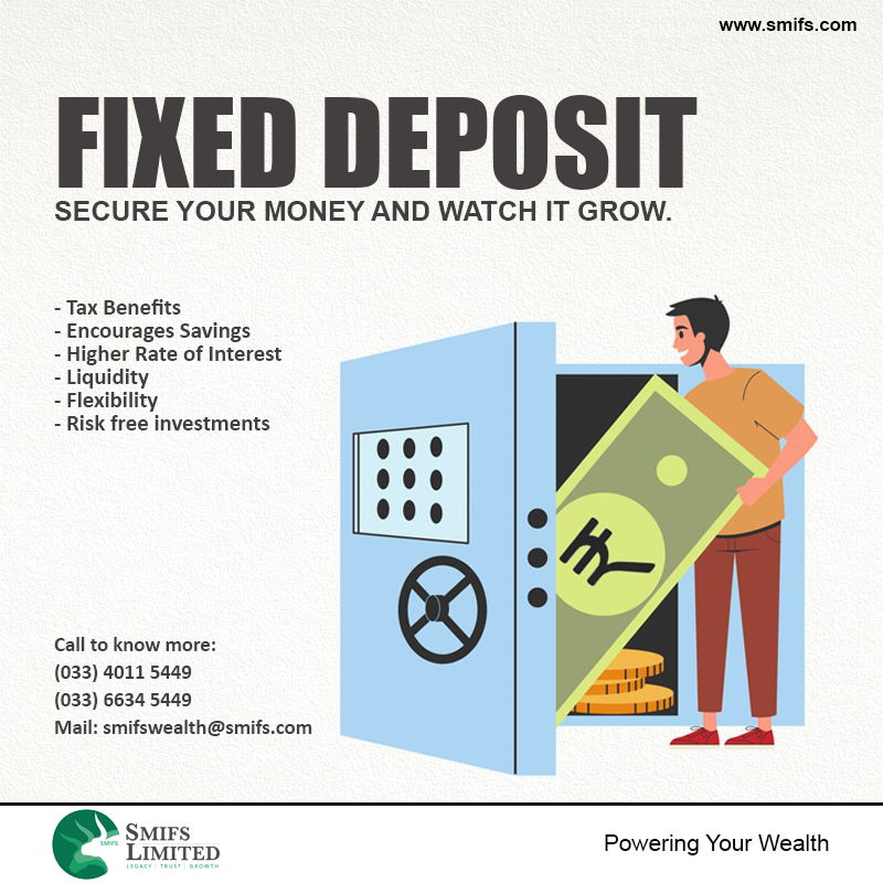 Grow #wealth securely with #FixedDeposits. Plan your #investments with #SMIFS_Limited. Visit:   #personalfinance #financial #financialplanning #wealthmanagement #money #retirement #fixedincome #fixeddeposit