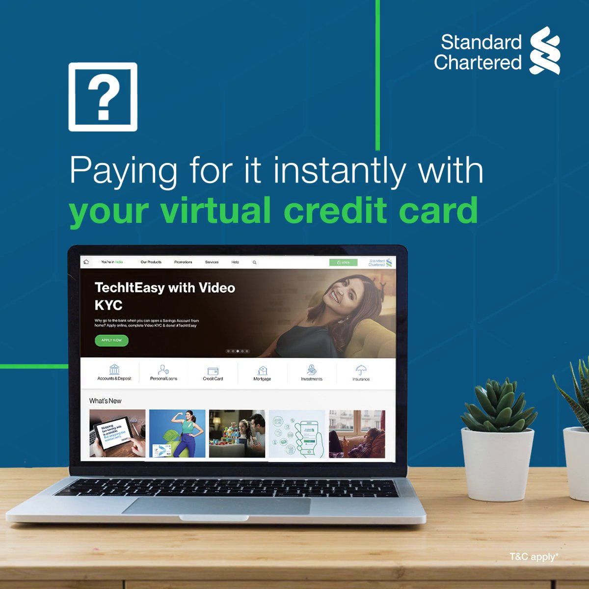 We know you can do everything from your couch. Add applying for a credit card to that list too! #TechItEasy when you apply for a Virtual Credit Card.  ✅Fill the online form ✅Verify your documents with a Video KYC ✅Get your card instantly!  To know more,