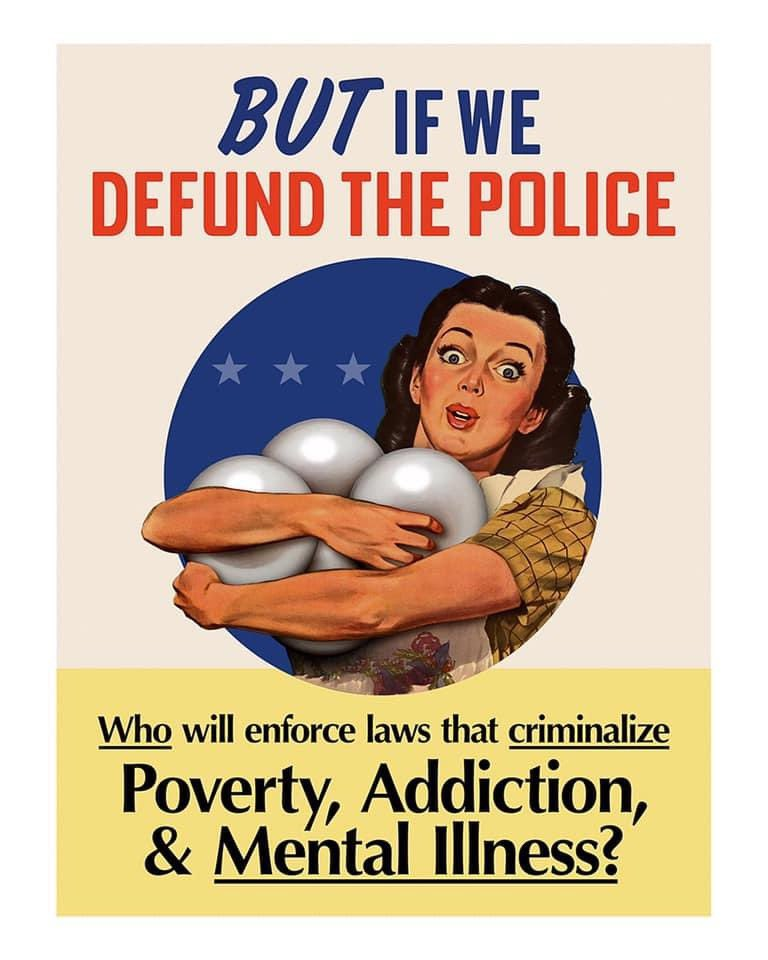 This is hilarious & poignant but I don't agree w the implied prescription. I don't want police defunded, I want American policing as we know it completely abolished. #AbolishPrison #AbolishPolice #AbolishICE #AbolishTheDeathPenalty